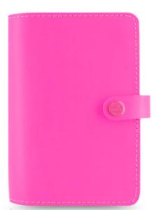 $85.95 Filofax Original Organizer Personal Size in Fluoro Pink Leather