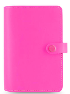 $85.95 Filofax Original Organizer Personal Size in Fluoro Pink Leather