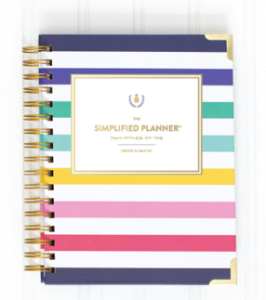 $85 Emily Ley's 2016 Daily Simplified Spiral Bound Planner in Happy Stripe