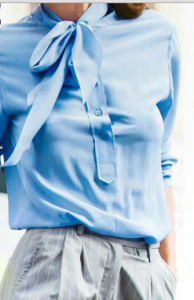 Fall_fashion_in_blue_with_bow_blouse_and_men's_trousers_sep_2015_glamour