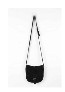 BDG Suede Crossbody Saddle Bag Black $29.99